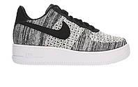 Оригинальные кроссовки Nike Air Force 1 Flyknit 2.0 Black/White (Art. AV3042-001)