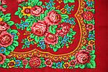 Матрешка 190-5, павлопосадский платок шерстяной с шерстяной бахромой, фото 10