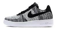 Оригинальные кроссовки Nike Air Force 1 Flyknit 2.0 Black White (ART. AV3042-001)