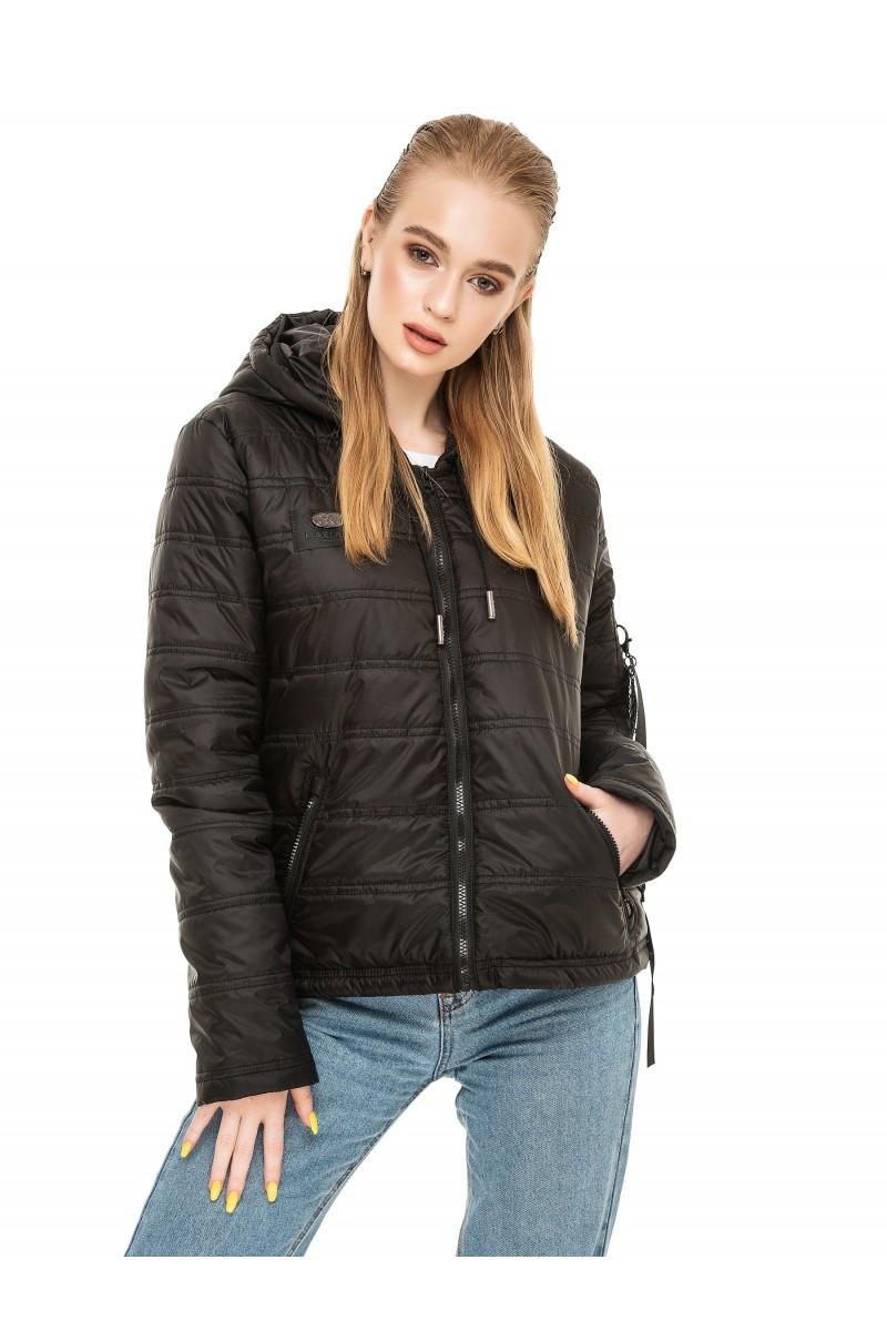 Женская куртка осень-весна Дана черный  (44-54)
