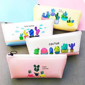 Пенал для карандашей и ручек | Пенал школьный | Пенал Cactus Simple Print (выбор дизайна)