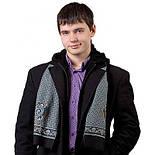 Брызги шампанского 639-2, павлопосадский шарф (кашне) шерстяной  двусторонний мужской с осыпкой, фото 2