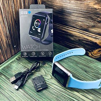 Умные часы Smart Watch A1 Синий