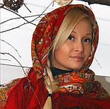 Испанский 710-5, павлопосадский платок шерстяной  с шелковой бахромой, фото 8
