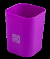 Стакан для ручек Buromax Rubber Touch пластиковый фиолетовый