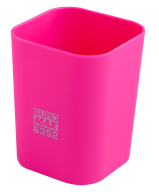 Стакан для ручек Buromax Rubber Touch пластиковый розовый