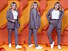 """Деловой женский костюм в полоску """"Polaire"""" с пиджаком (большие размеры), фото 5"""