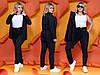 """Деловой женский костюм в полоску """"Polaire"""" с пиджаком (большие размеры), фото 6"""