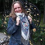 Март 904-4, павлопосадский платок шерстяной (двуниточная шерсть) с шелковой бахромой, фото 5