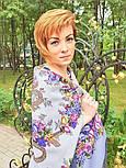 Рябиновые бусы 1193-2, павлопосадский платок шерстяной с шелковой бахромой, фото 6