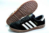 Кроссовки мужские в стиле Adidas Hamburg, Чёрные