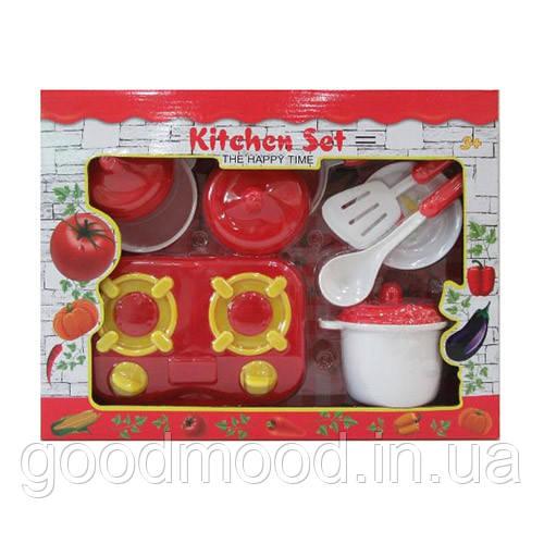 Посуд LN1011F плита, каструля, сковорідка, тарілка, кух.приладдя, кор., 35,5-27,5-7,5 см.