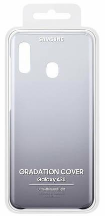 Samsung Gradation Cover оригинальная накладка для Galaxy A30 Black, фото 2