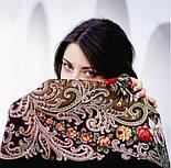 Тайна сердца 1437-17, павлопосадский платок шерстяной с шелковой бахромой, фото 9