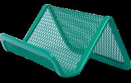 Подставка для визиток Buromax металлическая зелёная