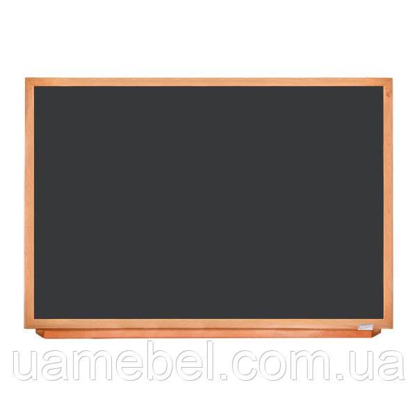 Школьная доска чёрная в деревянном профиле КЛАССИК, 150х100 см, фото 1