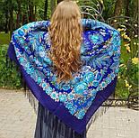 Признание 1462-14, павлопосадский платок шерстяной  с шелковой бахромой, фото 4