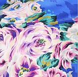 Коварство и любовь 1495-14, павлопосадский платок (крепдешин) шелковый с подрубкой, фото 3
