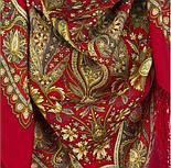 Имбирь 1496-5, павлопосадский платок шерстяной  с шелковой бахромой, фото 6
