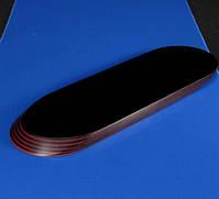 Накладки Мікарта для рукоятки ножа № 92040 Колір:бордовий з ткан. текс 6,2х80х130 мм