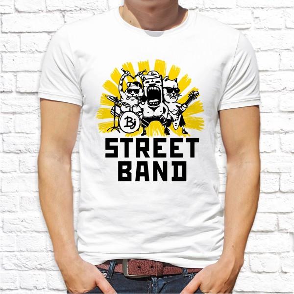 "Мужская футболка Push IT с принтом Коты музыканты ""Street band"""