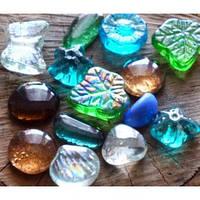 Камни для декора Стеклянные Фигуры d 3-4 см, 390 гр