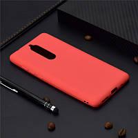 Чехол для Nokia 5.1 / 5 2018 силикон Soft Touch бампер красный