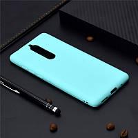 Чехол для Nokia 5.1 / 5 2018 силикон Soft Touch бампер мятно-голубой