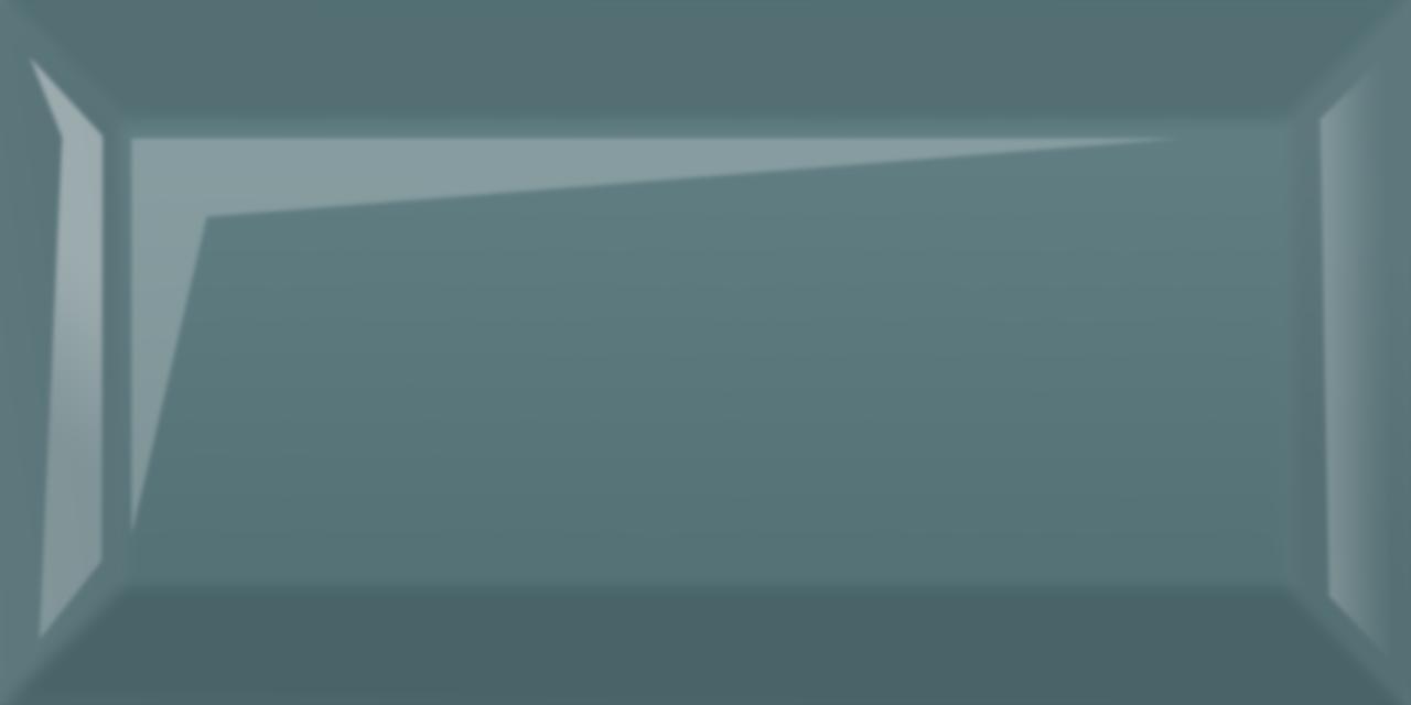 Плитка для стен Metrotiles голубой 100x200x7 мм