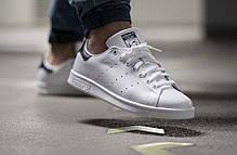 """Кроссовки Adidas Stan Smith """"White/Black"""" (Белые/Черные), фото 2"""