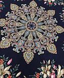 Донские зори 1801-8, павлопосадский платок шерстяной (двуниточная шерсть) с шелковой вязаной бахромой, фото 6