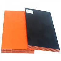 Накладки Мікарта для рукоятки ножа № 92070 Колір:помаранчевий з ткан. текс 6,2х80х130 мм