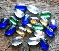 Камни для декора Овальные цветные микс 3 х 1,5 см.400г