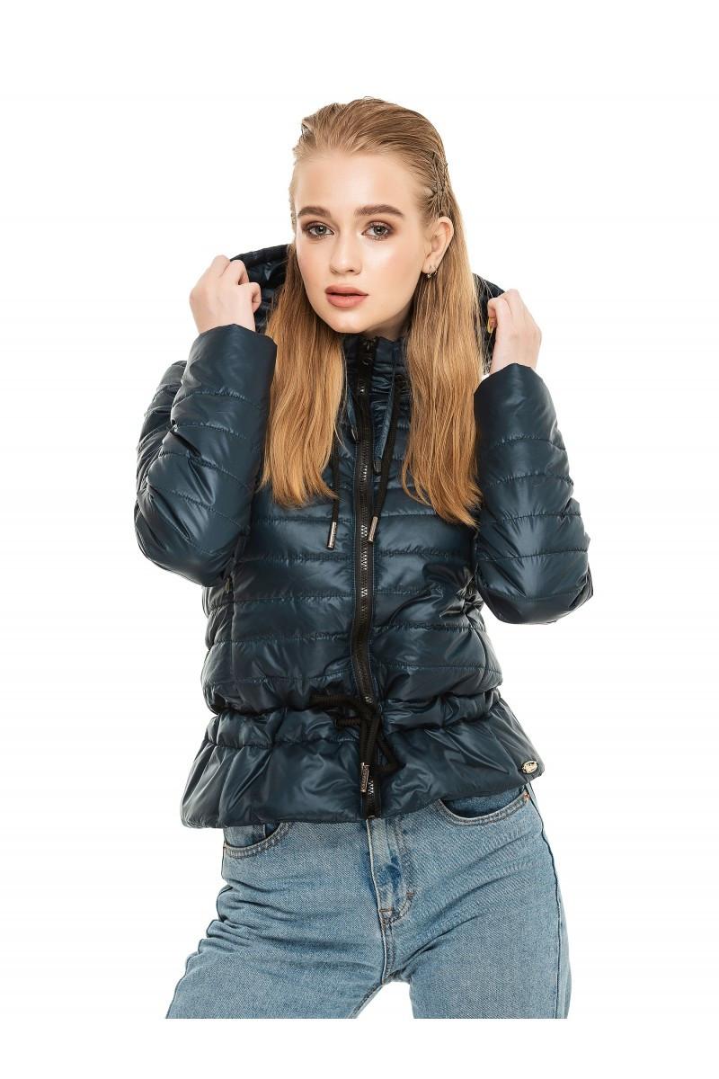 Стильная куртка осень-весна Рамина изумрудный (44-54)