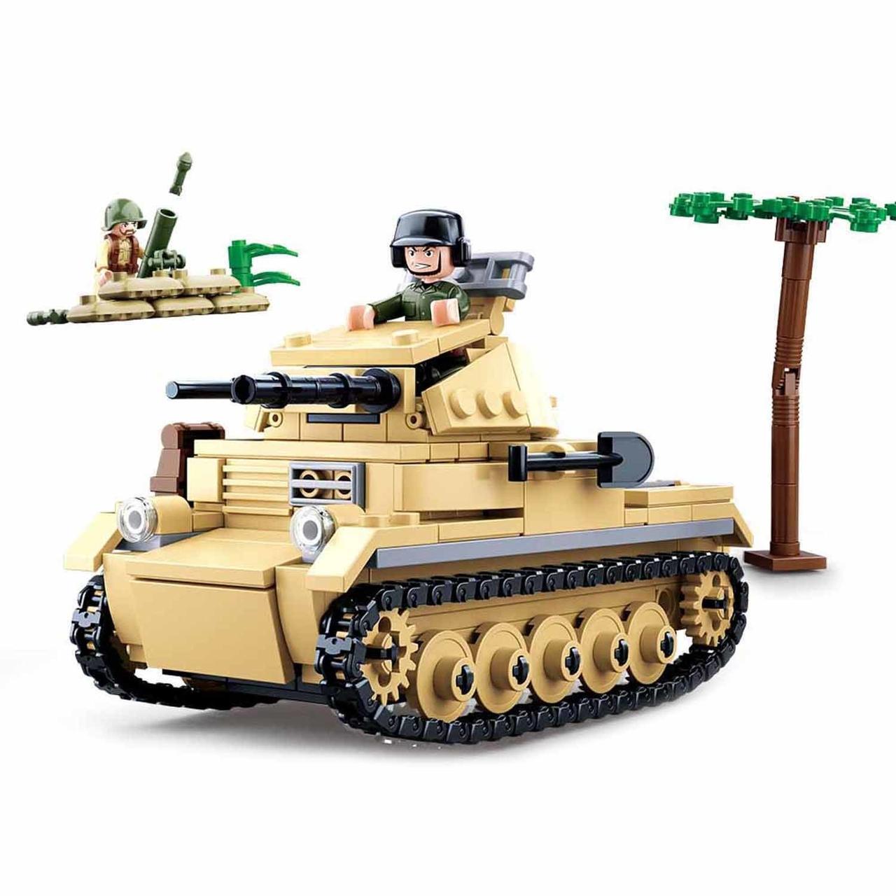 Конструктор SLUBAN Танк, M38-B0691, 356 деталей