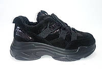 Женские кожаные осенние кроссовки ТМ Allshoes, фото 1