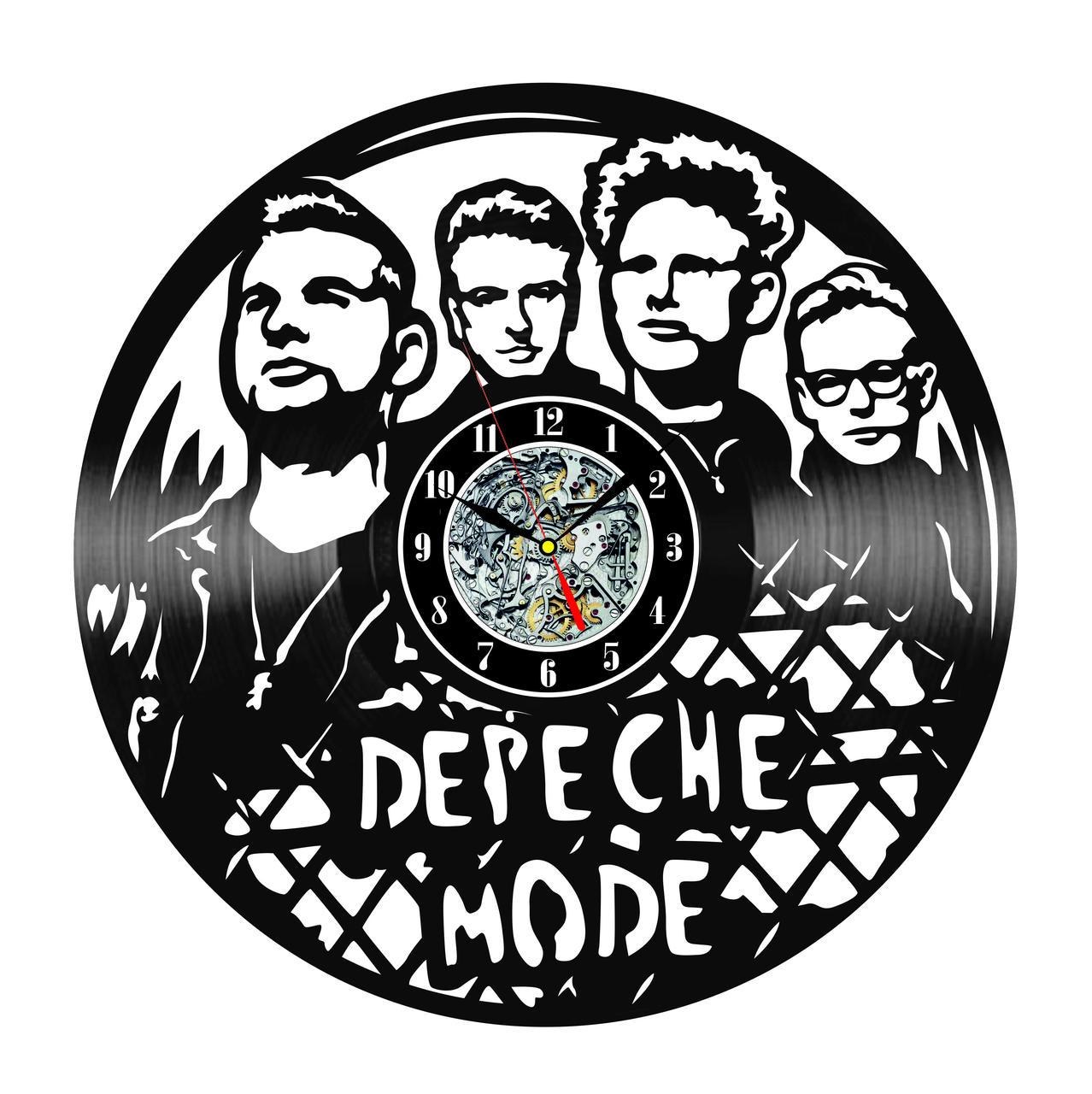 Настенные часы из виниловых пластинок LikeMark DEPECHE MODE
