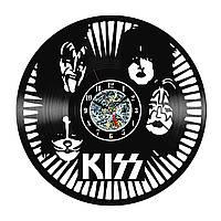Настенные часы из виниловых пластинок LikeMark Kiss
