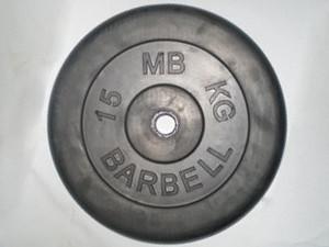 Блин (диск) обрезиненный 15 кг (26 мм)