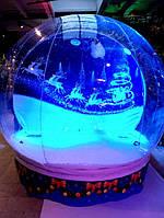 Чудо шар прозрачная полусфера фотозона Snow Globe 3м
