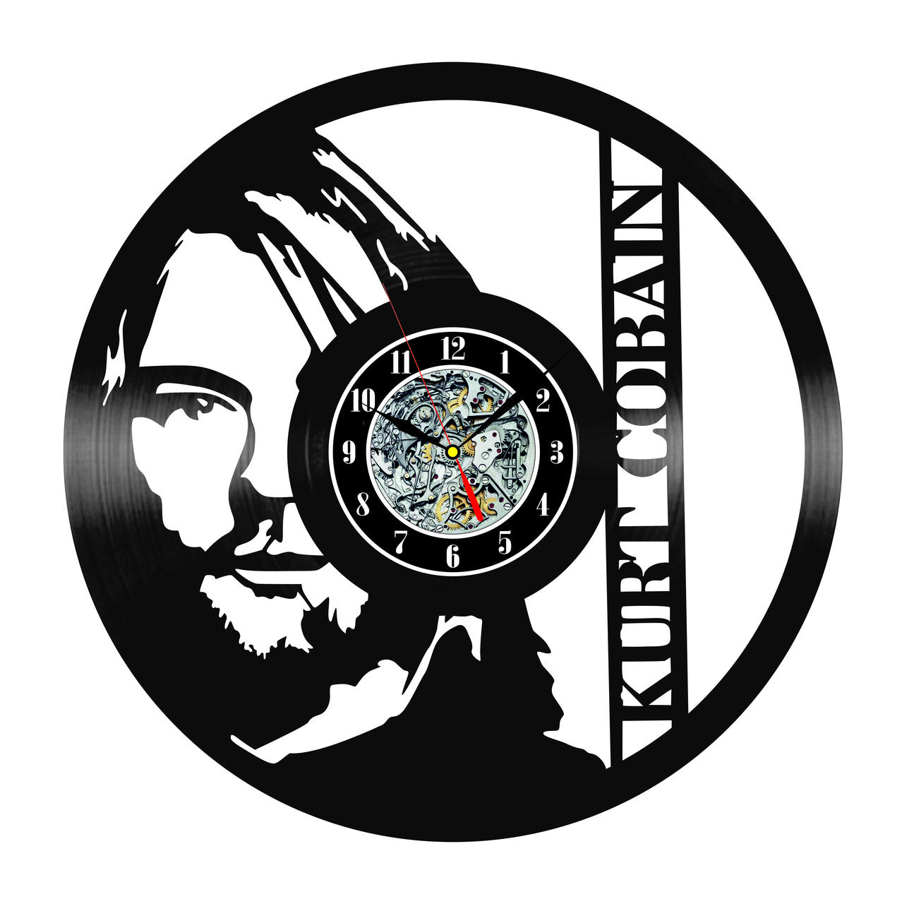 Настенные часы из виниловых пластинок LikeMark Nirvana #1