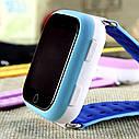 Детские часы-телефон Q100-S (Q750) с GPS, прослушка, магнитная зарядка, GPS+LBS+Wi-Fi. Голубые, фото 3