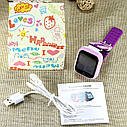 Детские часы-телефон Q100-S (Q750) с GPS, прослушка, магнитная зарядка, GPS+LBS+Wi-Fi. Голубые, фото 4