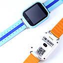 Детские часы-телефон Q100-S (Q750) с GPS, прослушка, магнитная зарядка, GPS+LBS+Wi-Fi. Голубые, фото 5