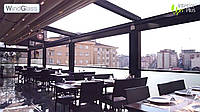 Панорамное остекление пергол, террас, навесов  WindGlass