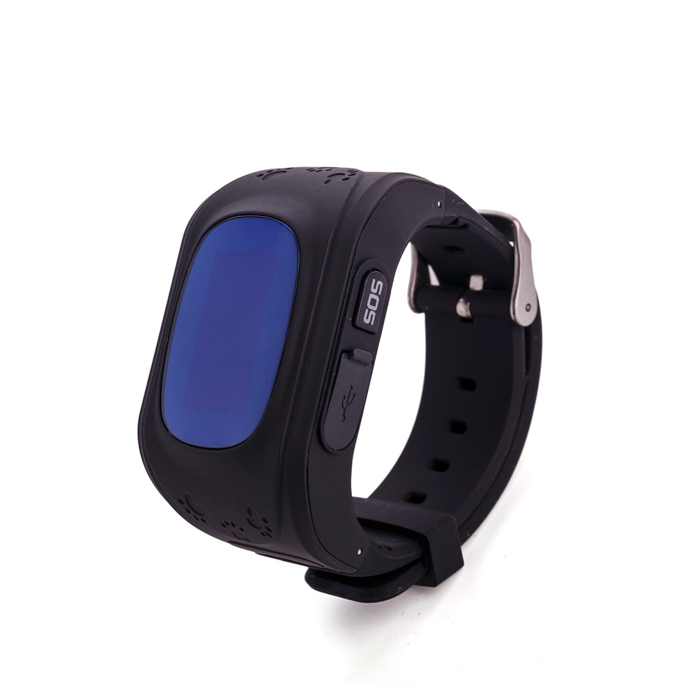 Детские часы-телефон Q50 с GPS, SOS, просушка, будильник, шагомер, GPS+LBS+Wi-Fi. Чёрные