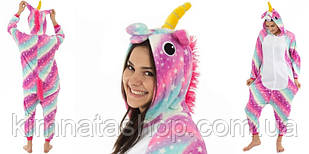 Кигуруми пижама флисовая Единорог пурпурная звезда L на рост 160-170 см