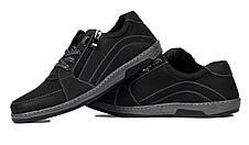 Туфлі чоловічі спортивні Львівської фабрики, чорні, фото 3