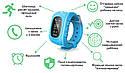 Детские часы-телефон Q50 с GPS, SOS, просушка, будильник, шагомер, GPS+LBS+Wi-Fi. Чёрные, фото 4