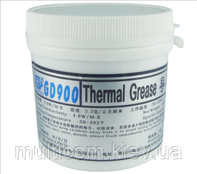 15-00-058. Термопаста GD900, теплопровідність 4.8 Вт/мК, 150г, банка, сіра